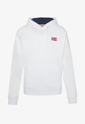 BITO HOODIE - Luvtröja - bright white