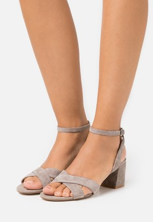 LEATHER - Sandals - grey