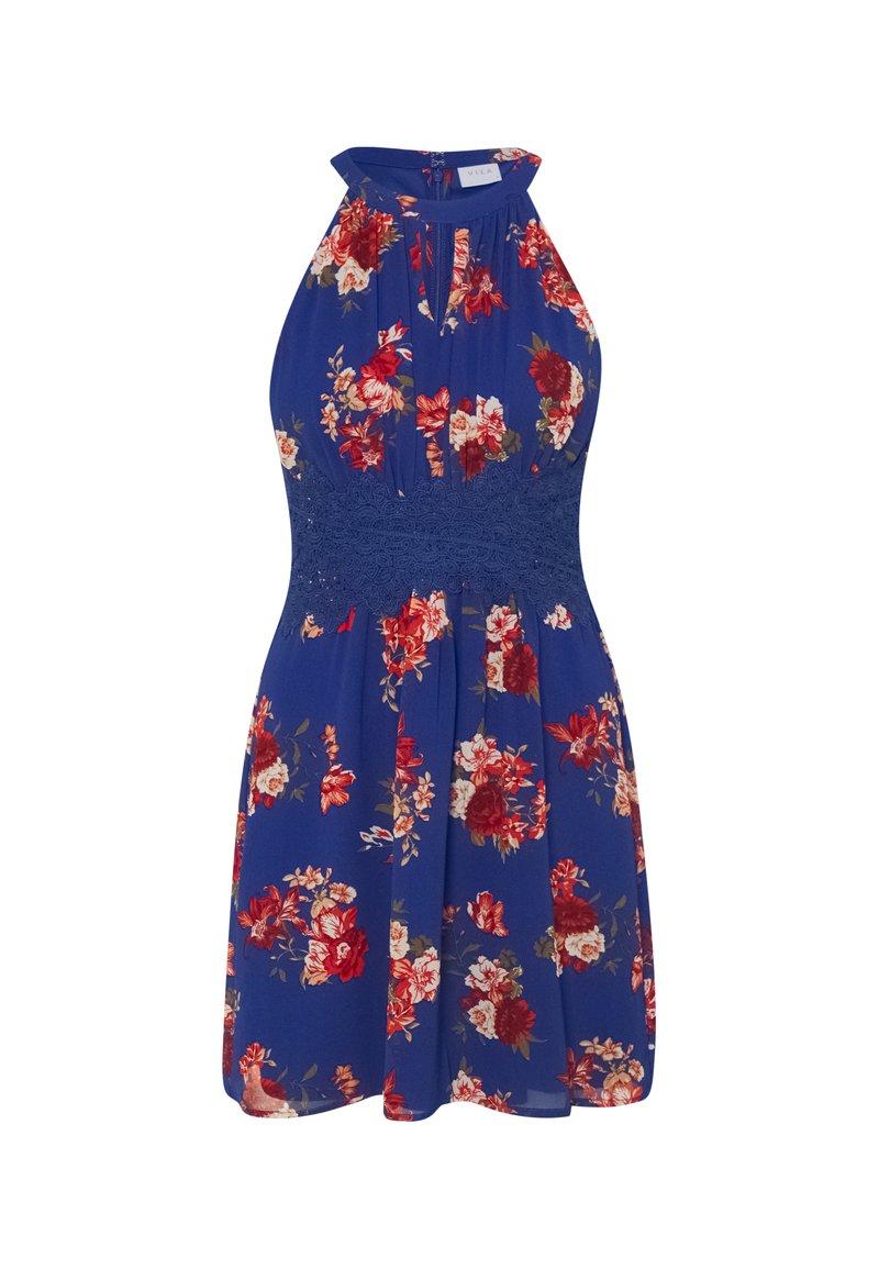 VILA PETITE - VIMILINA FLOWER DRESS PETITE - Day dress - mazarine blue