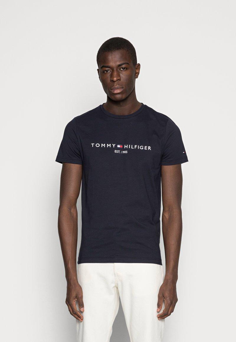 Tommy Hilfiger - LOGO TEE - Print T-shirt - blue