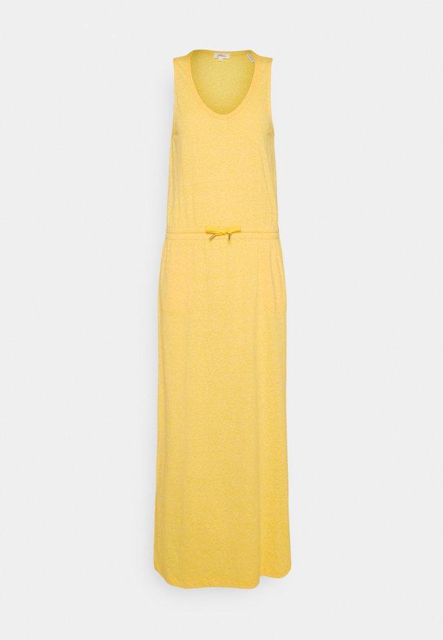 Długa sukienka - yellow melange