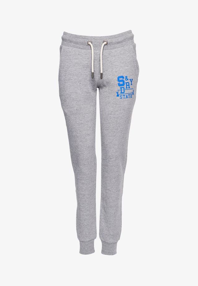 TRACK & FIELD CLASSIC  - Tracksuit bottoms - soft grey marl