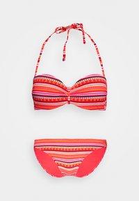 WIRE BANDEAU SET - Bikini - orange