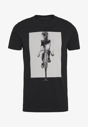 MENS SLIM FIT CYCLIST - Print T-shirt - black