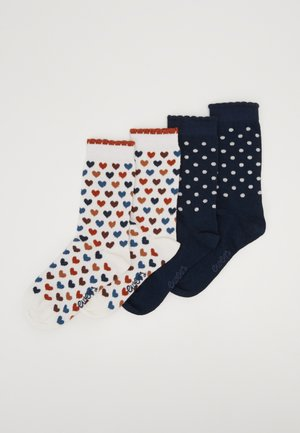 KIDSSOCKS HEARTS DOTS 4 PACK - Sokken - latte/tinte