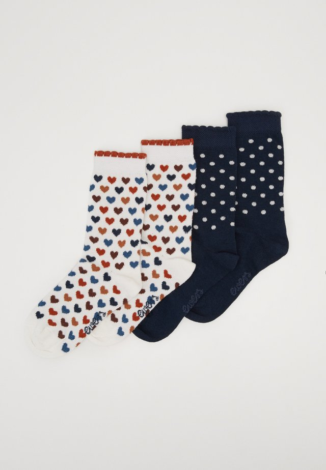 KIDSSOCKS HEARTS DOTS 4 PACK - Chaussettes - latte/tinte