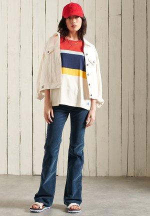 T-shirt print - apple red stripe