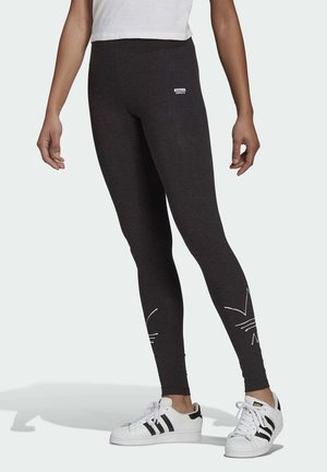 Leggings - Trousers - black melange
