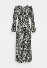Dorothy Perkins Petite - SPOT MIDI - Jersey dress - black - 0