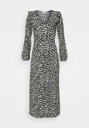 SPOT MIDI - Jersey dress - black