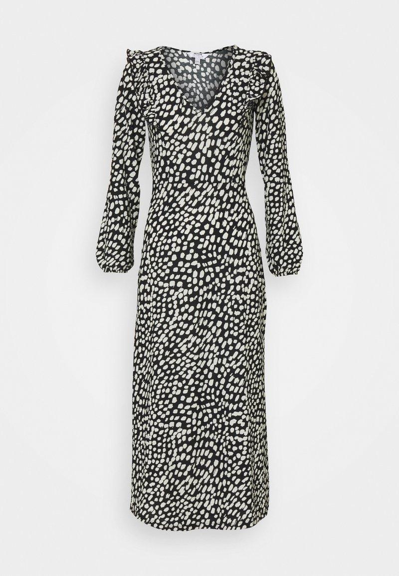 Dorothy Perkins Petite - SPOT MIDI - Jersey dress - black