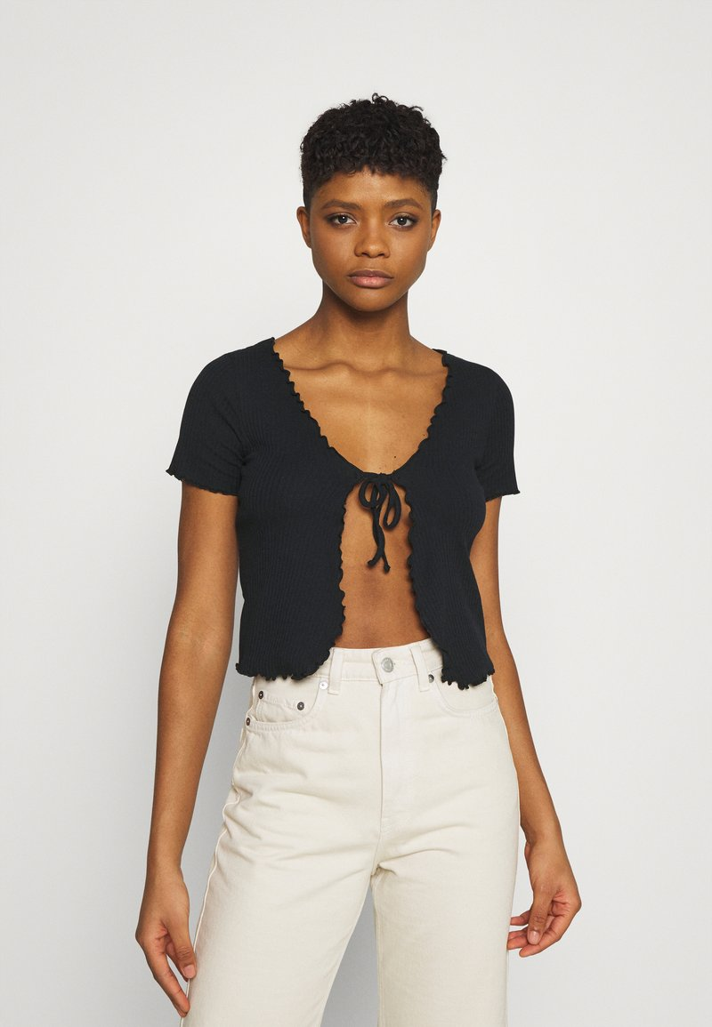 BDG Urban Outfitters - TIE FRONT - Cardigan - black