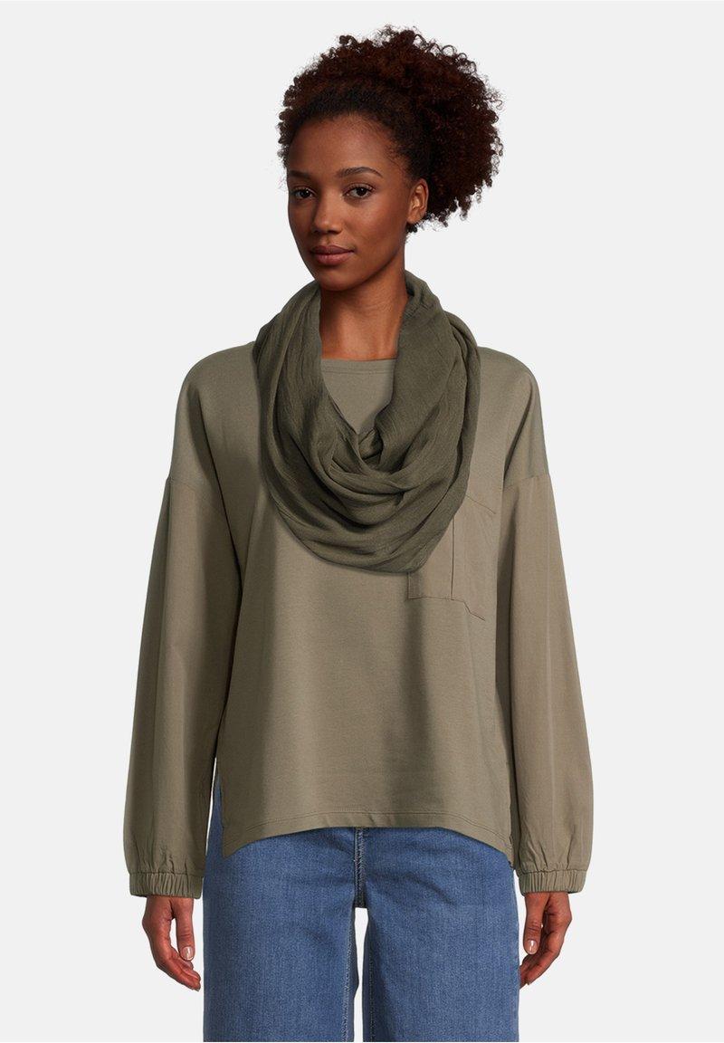 Cartoon - Sjaal - dunkelgrün