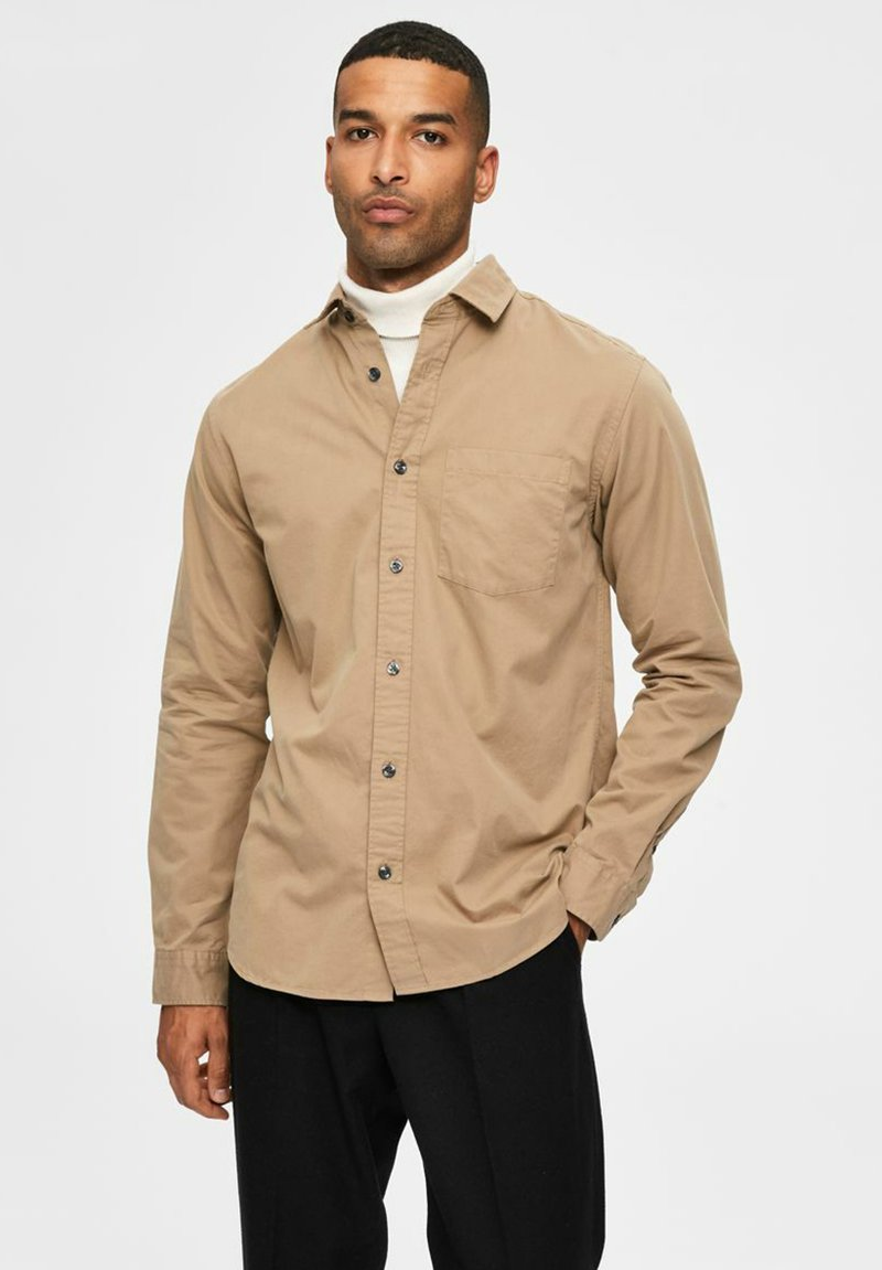 Selected Homme - REGULAR FIT - Overhemd - petrified oak