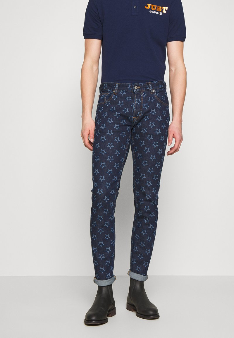 Just Cavalli - PANTS POCKETS STARS - Džíny Slim Fit - blue denim