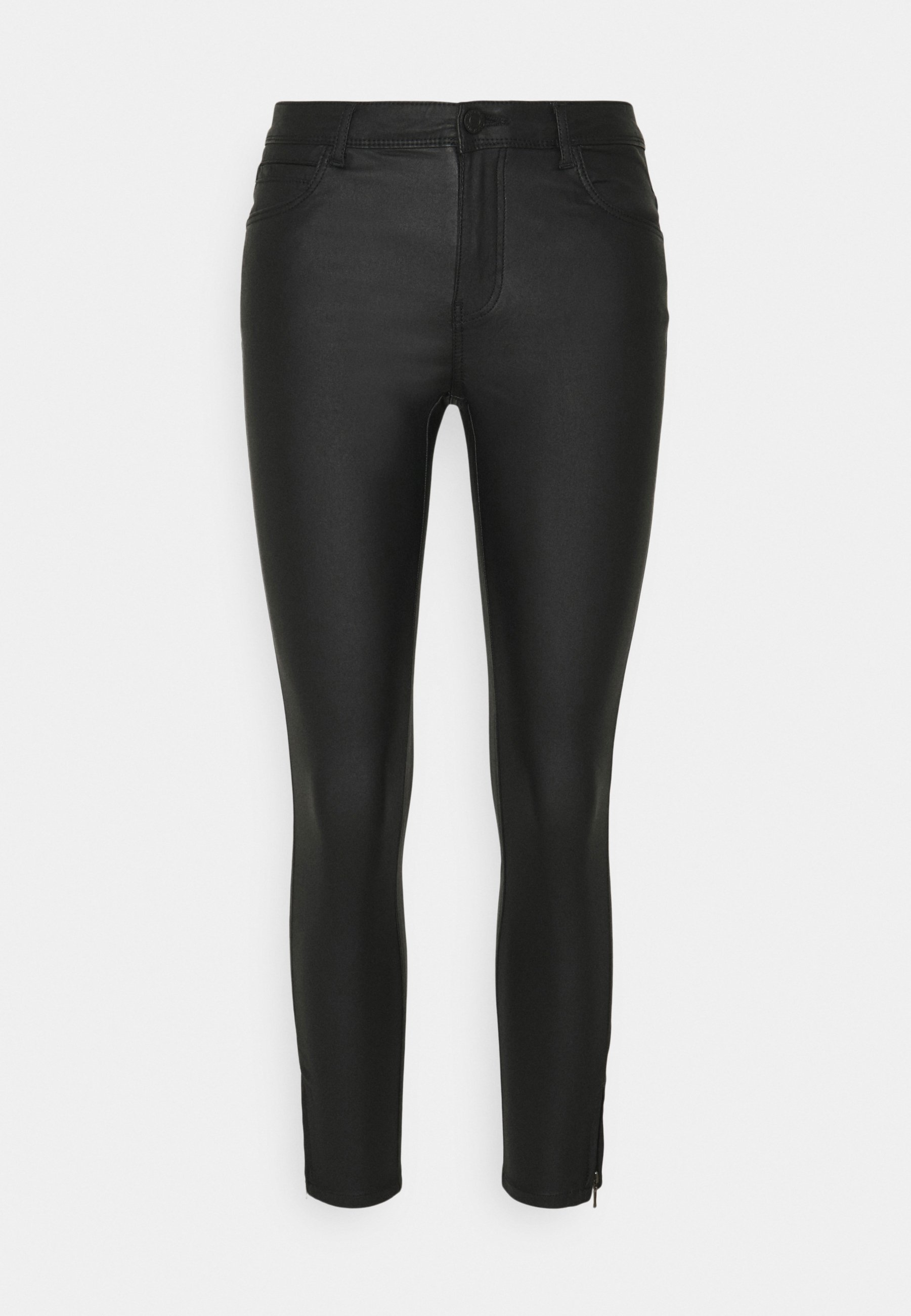 Damen NMKIMMY COATED DART PANTS  - Jeans Skinny Fit