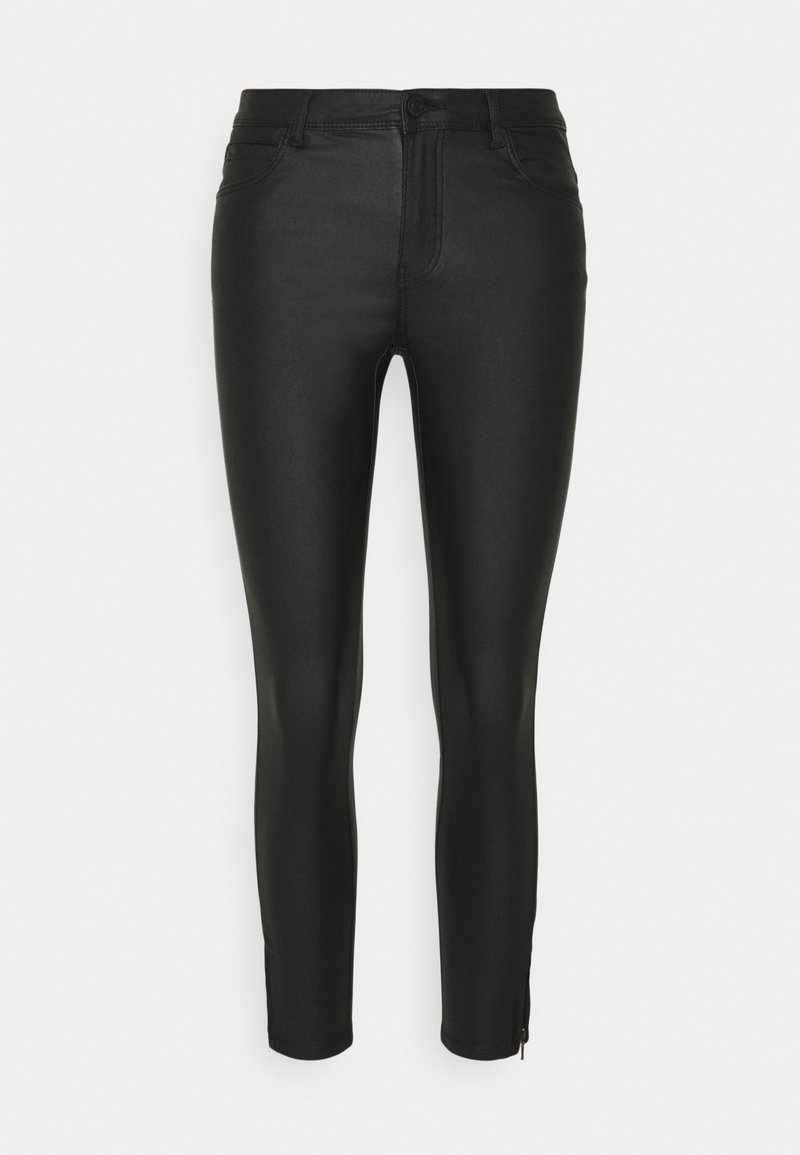 Noisy May - NMKIMMY COATED DART PANTS  - Jeans Skinny Fit - black