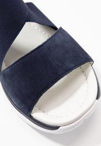 Gabor Comfort - Platform sandals - blue - 2