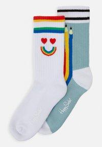 Happy Socks - PEN SOCK UNISEX 2 PACK - Socks - blue/white - 0