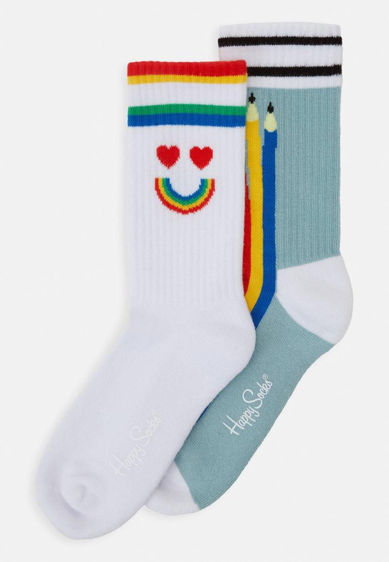 Happy Socks - PEN SOCK UNISEX 2 PACK - Socks - blue/white