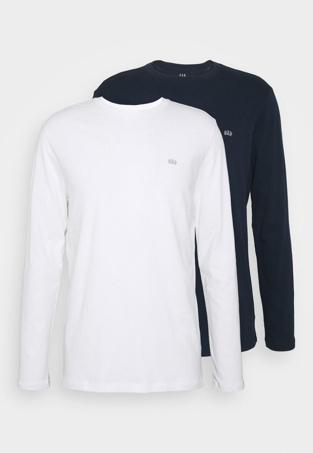CREW 2 PACK - Long sleeved top - white/navy