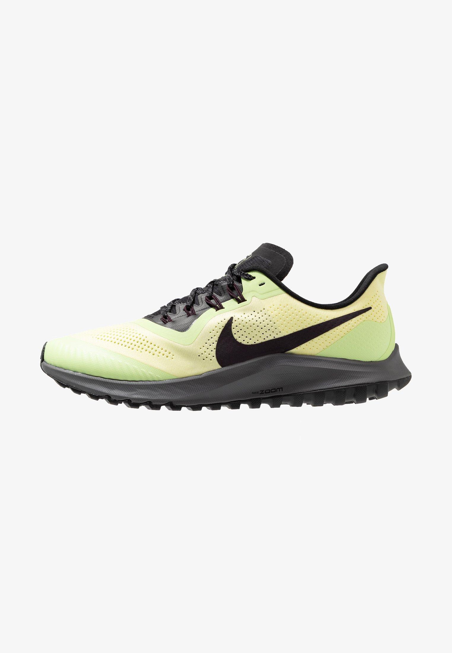 Cadera Moral Acrobacia  Nike Performance AIR ZOOM PEGASUS 36 - Zapatillas de trail running -  luminous green/burgundy ash/black/azul - Zalando.es