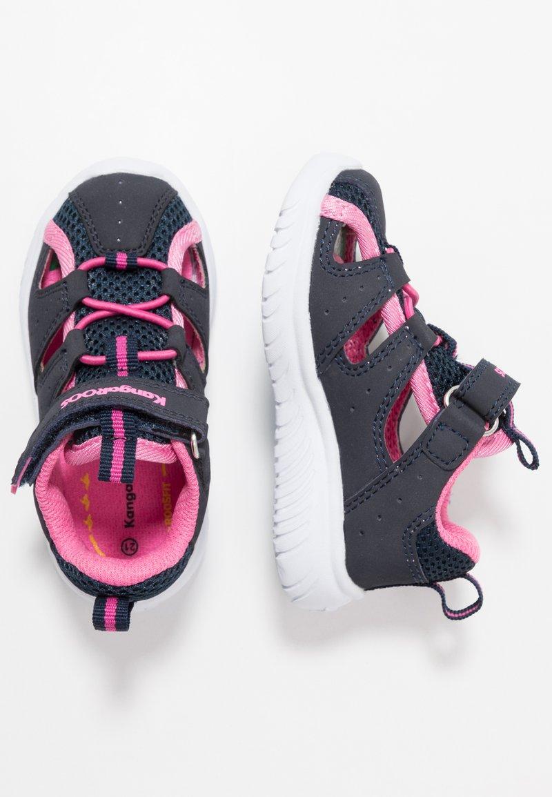 KangaROOS - KI-ROCK LITE - Sandals - dark navy/daisy pink