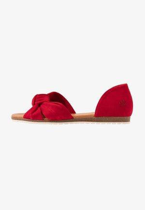 CHELSEA - Peeptoe ballet pumps - red