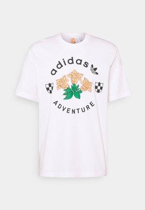 FLOWERS TEE UNISEX - T-shirt imprimé - white