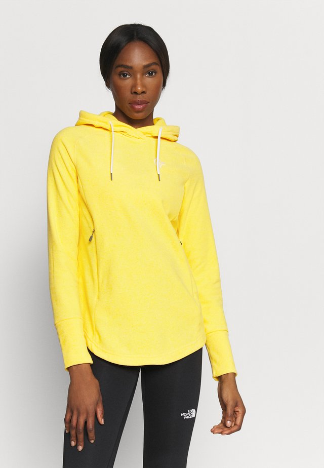 WARM2 HOOD - Luvtröja - lemon chrome