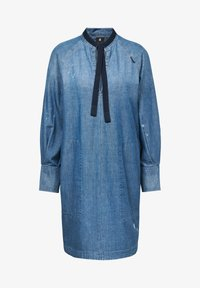 G-Star - V-NECK TUNIC DRESS - Denim dress - faded aegean blue - 3