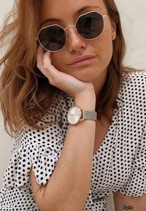 ALDABRA - Sunglasses - gold carbon