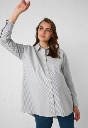 Button-down blouse - anthracite
