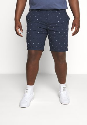 PRINTED - Shorts - navy/white
