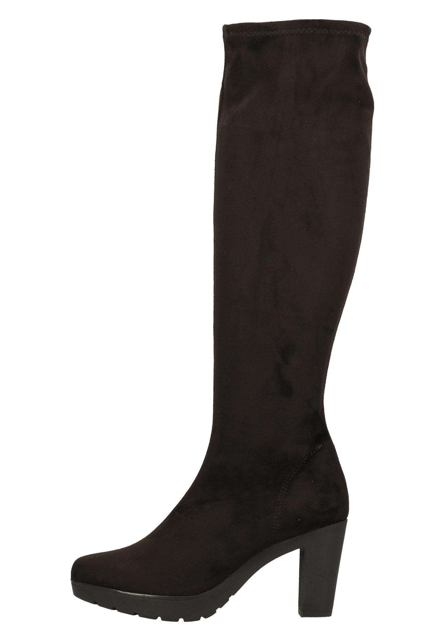Laarzen met hoge hak black cm