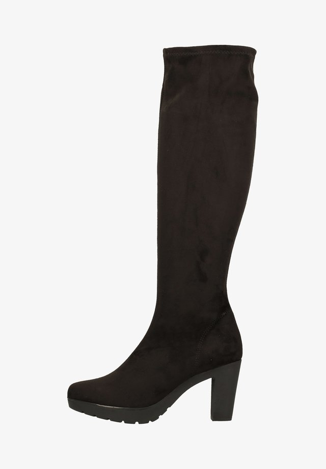 High heeled boots - black cm