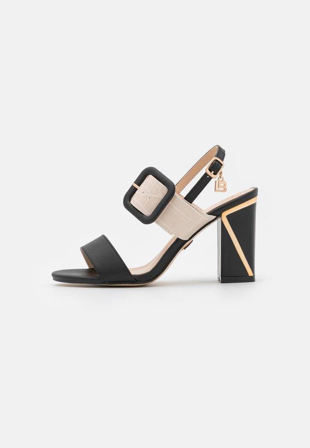 Sandaalit nilkkaremmillä - basic black