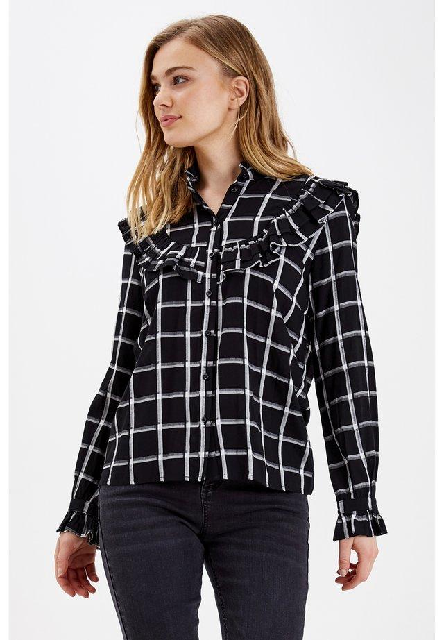 Button-down blouse - black combi