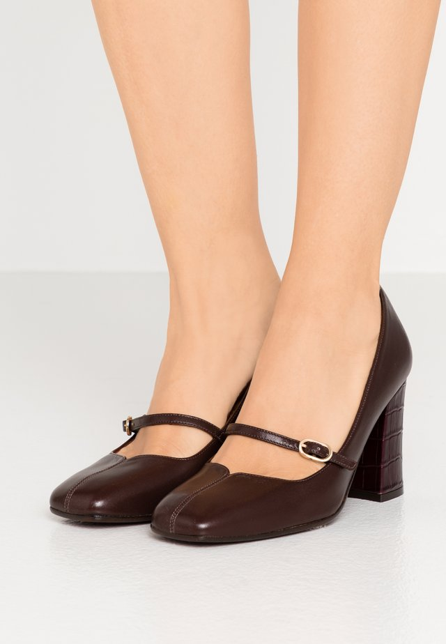 RABEL - Classic heels - freya testa di moro/kenya grape