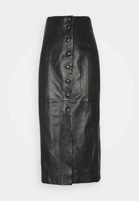 Paul Smith - WOMENS SKIRT - Pouzdrová sukně - black - 0