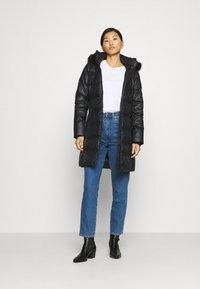 Calvin Klein - ESSENTIAL REAL COAT - Donsjas - black - 1