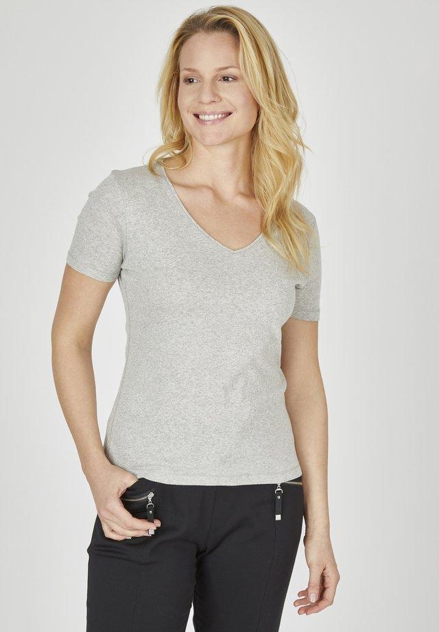 GABI - Basic T-shirt - grau meliert