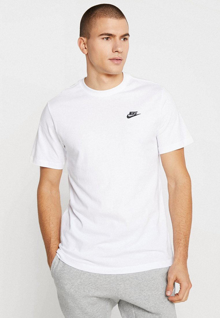 Nike Sportswear - CLUB TEE - Basic T-shirt - white/black