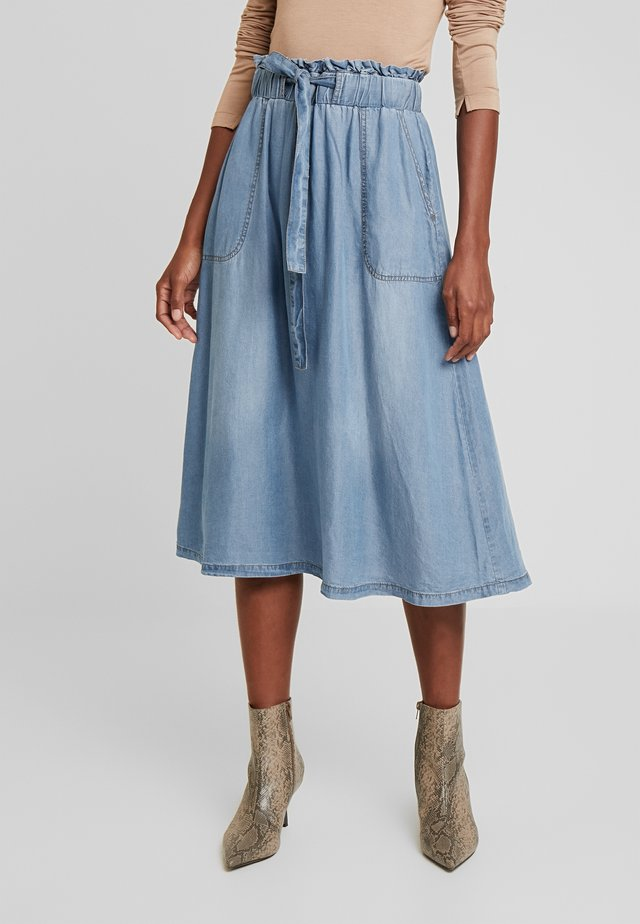 VINCA SKIRT - A-Linien-Rock - blue denim