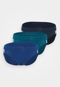 Schiesser - 3PACK Slip Organic Cotton Softbund - 95/5 Stretch - Briefs - dark blue - 0