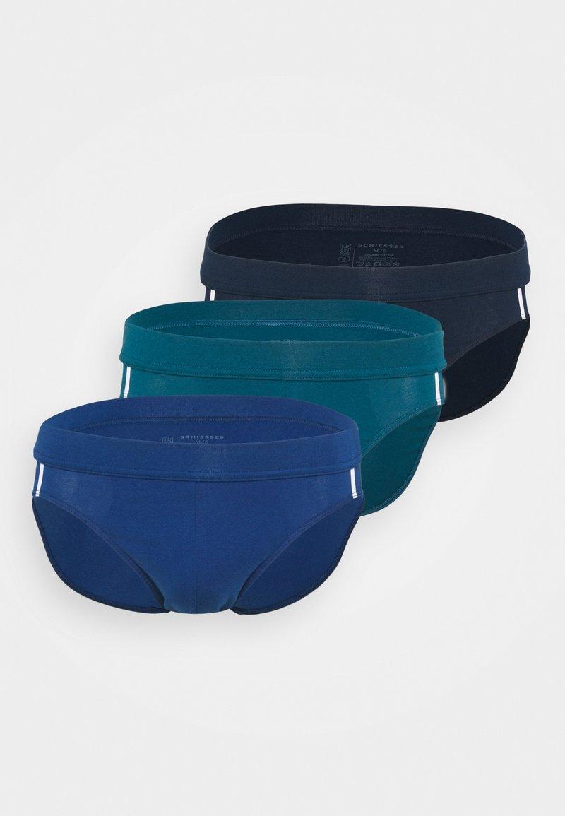 Schiesser - 3PACK Slip Organic Cotton Softbund - 95/5 Stretch - Briefs - dark blue