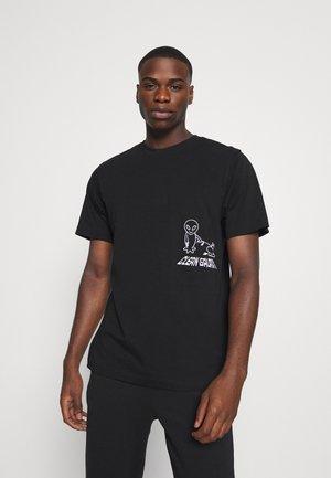 TUBOLAR - Print T-shirt - black