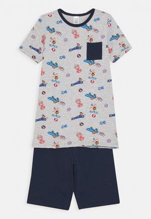KIDS SCHLAFANZUG KURZ - Pyjama - grau melange