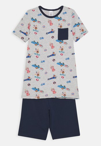 KIDS SCHLAFANZUG KURZ - Pyjama set - grau melange