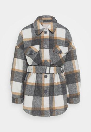 PCSELMA OVERSHIRT JACKET - Winter jacket - white/grey/natural